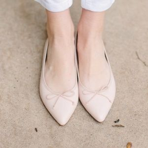 J. Crew ballet flats in nude blush pink